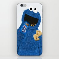 cookie monster iPhone & iPod Skins featuring Cookie Monster by Dano77