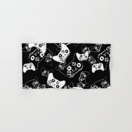 Video Game White on Black Hand & Bath Towel