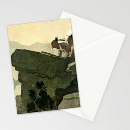 """""""First Warpath"""" Western Art by NC Wyeth Stationery Cards"""