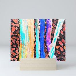 Rainbow Eucalyptus Graffiti artist tree Tries to get ready for the Fall Autumn Mini Art Print