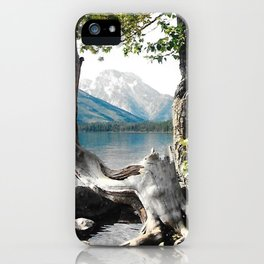 Tetons at Jackson Lake Wyoming iPhone Case