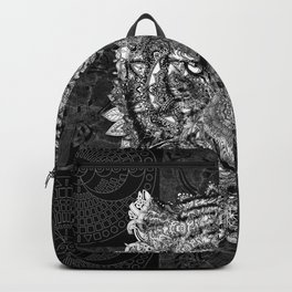mandala tiger marble Backpack