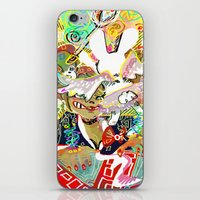 dangan ronpa iPhone & iPod Skins featuring attack on ronpa by ESCL