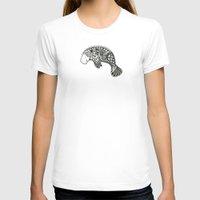 manatee T-shirts featuring Blue Manatee by Casey Virata