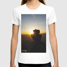 Sunset Behind Nature's Skyscraper T-shirt