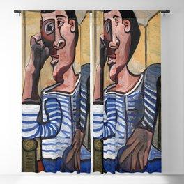 Pablo Picasso The Sailor 1943 Artwork for Wall Art, Prints, Posters, Tshirts, Men, Women, Kids Blackout Curtain