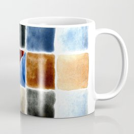 Color Chart - Burnt Sienna (W&N) and Cerulean Blue (DS) Coffee Mug