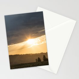Yellowstone National Park - Sunset, Blacktail Deer Plateau Stationery Cards
