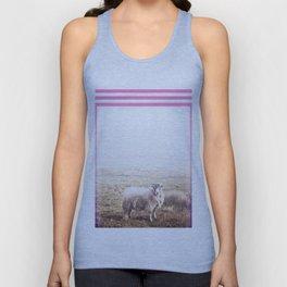 Sheep - pink graphic Unisex Tank Top
