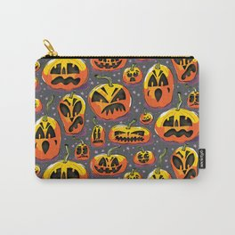 jack o lanterns jackolanterns purple pumpkin halloween creepy spooky holiday theme Carry-All Pouch