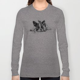 Frenchie and the Birds Long Sleeve T-shirt