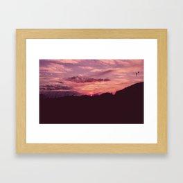 Fire Island Magic Sunset Framed Art Print