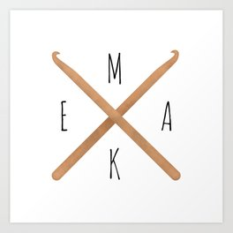 MAKE  |  Crochet Hooks Art Print