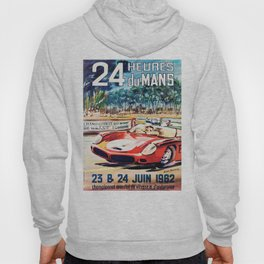 Le Mans poster, 1962, vintage poster, t-shirt, race poster Hoody