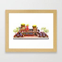 Fast Food Restaurant Framed Art Print