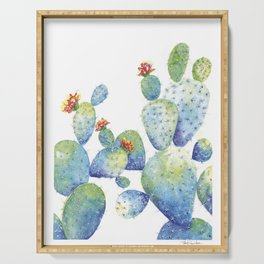 Blue Cactus Serving Tray
