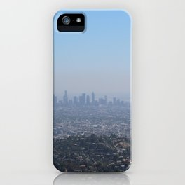 LA Skyline, View from Griffith Park iPhone Case