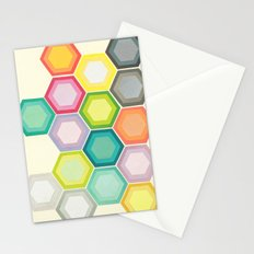 Honeycomb Layers Stationery Cards
