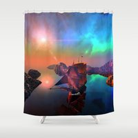 ship Shower Curtains featuring Ship  by nicky2342