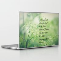 jane eyre Laptop & iPad Skins featuring Present and Future Jane Eyre Quote by KimberosePhotography