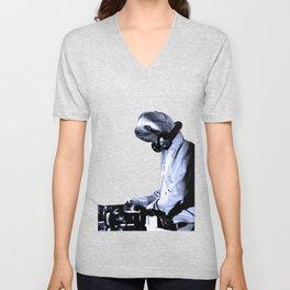 DJ Sloth Unisex V-Neck