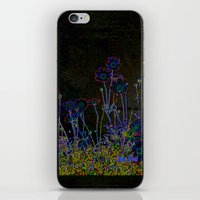 leather iPhone & iPod Skins featuring Leather floral by Lydia Cheval