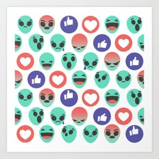 Alien Reactions Art Print