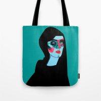 women Tote Bags featuring Women by Zaneta Antosik