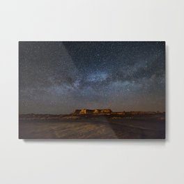 Across the Universe - Milky Way Galaxy Above Mesa in Arizona Metal Print