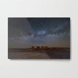 Across the Universe - Milky Way Galaxy Above Mesa in Arizona Metal Print