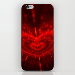 Cupid's Arrows | Valentines Day | Love Red Black Heart Texture Pattern iPhone Skin