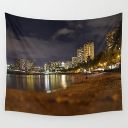 Waikiki Beach Wall Tapestry