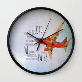 Proverbs 3:5-6  Wall Clock