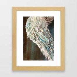 Vintage Angel Wing Up High - Left Framed Art Print