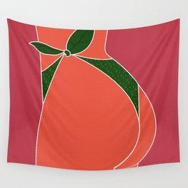 Just Peachy - Fun, Summer, Cute, Peach, Fresh, Butt Wall Tapestry