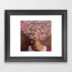 head in the cloud Framed Art Print