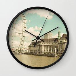 London Eye Love You Wall Clock
