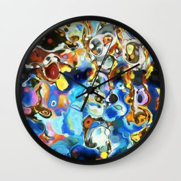 Abstract Composition 25 Wall Clock