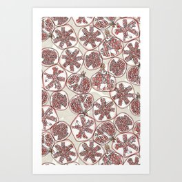watercolor pomegranates Art Print