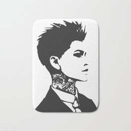 The handsome butch with neck tattoos Bath Mat