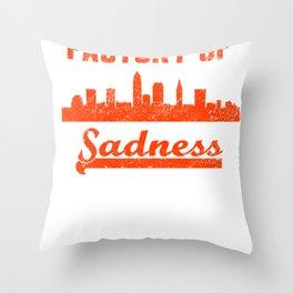 Cleveland Factory of Sadness City Skyline  Throw Pillow