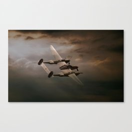 P38 In The Pacific Canvas Print