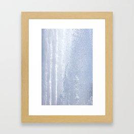 Fountain water streams dynamic motion Framed Art Print