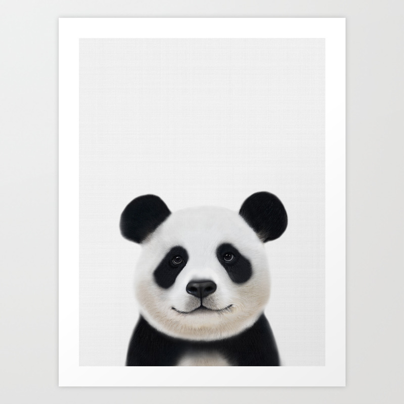 Panda Print Nursery Art Decor Animal Baby Animals