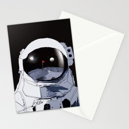 Astronaut Golf Course on the Moon Stationery Cards
