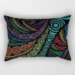 Fractal Freehand Rectangular Pillow