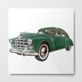 Vintage Mobster Car  Metal Print