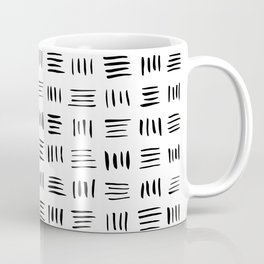 Lines on Lines // black Coffee Mug