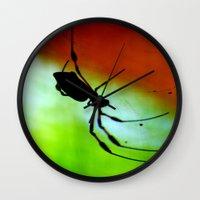spider Wall Clocks featuring spider by lennyfdzz