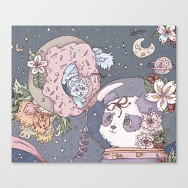 Space Panda Canvas Print